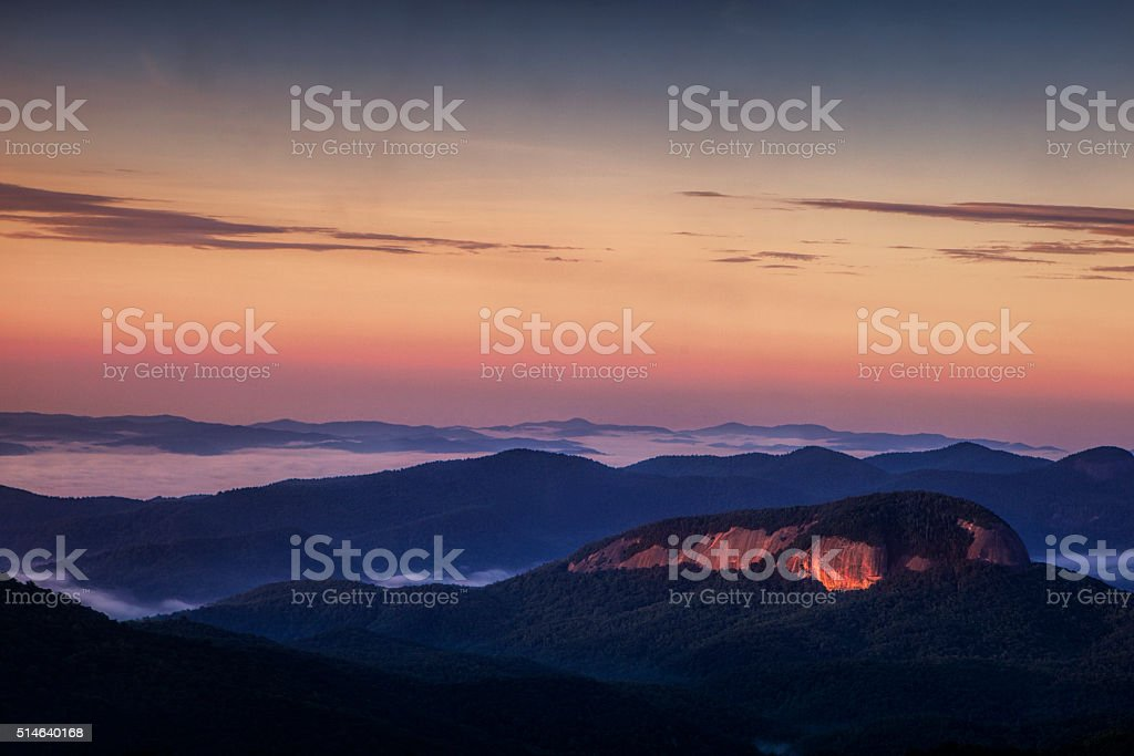 Looking Glass Rock at Dawn stock photo