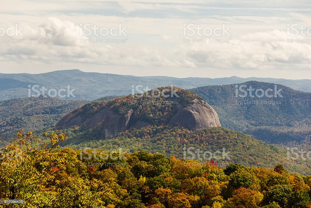 Looking Glass Rock in NC stock photo