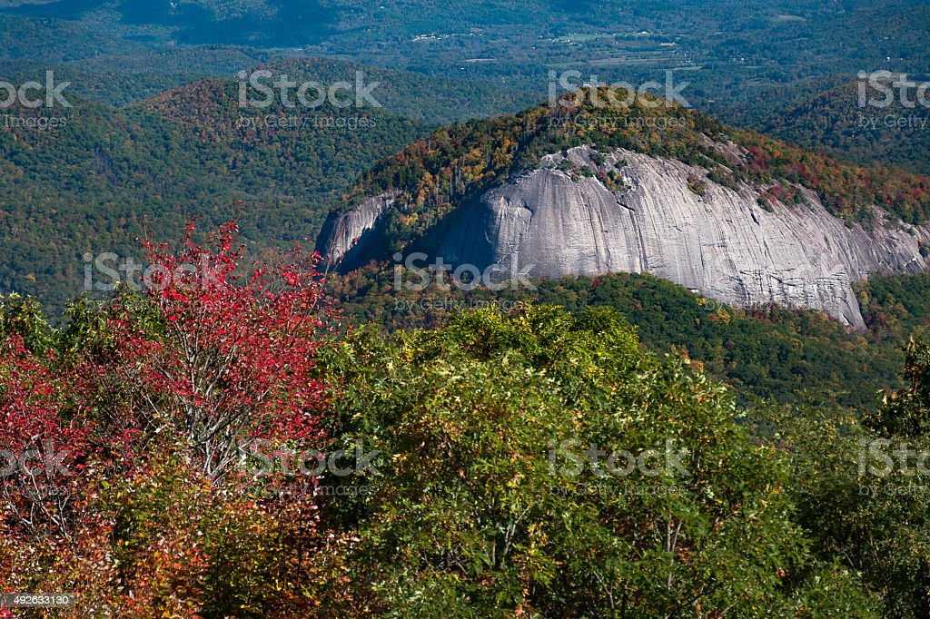 Looking Glass Rock in October stock photo