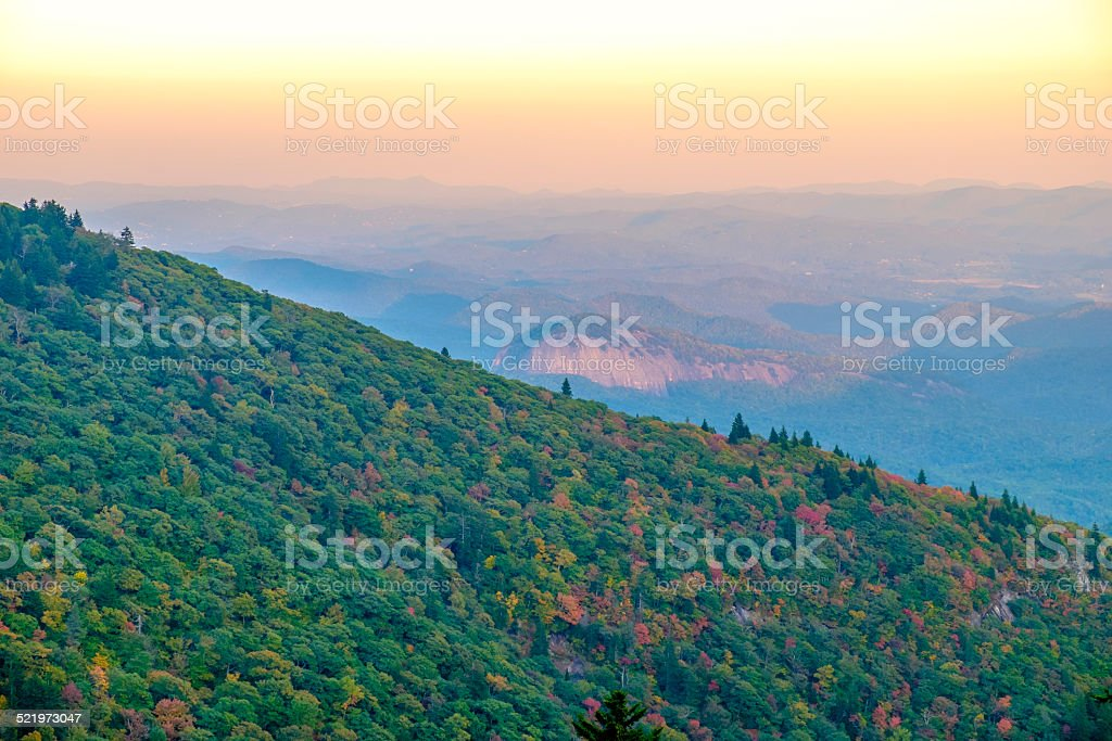 Looking Glass Rock in Sunset Glow stock photo