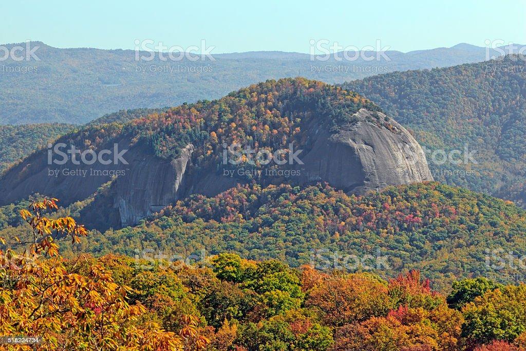 Looking Glass Rock Near Asheville, NC stock photo