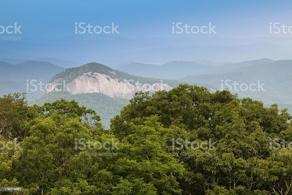 Looking Glass Rock, North Carolina stock photo