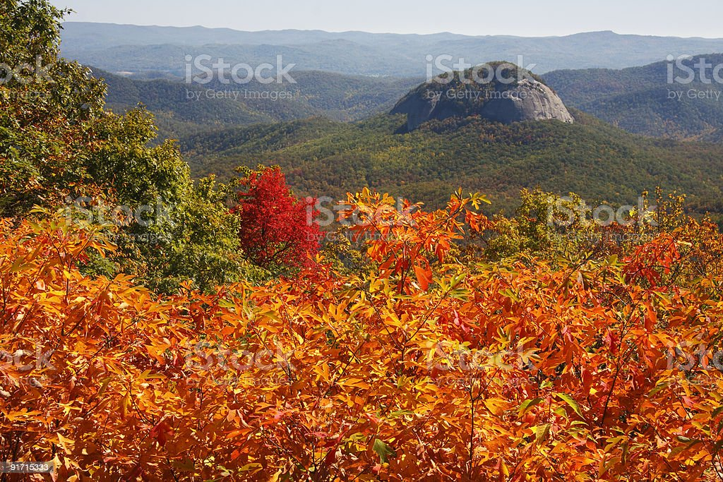 Looking Glass Rock on the Blue Ridge Parkway stock photo