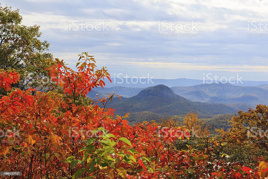 Looking Glass Rock on the Parkway stock photo