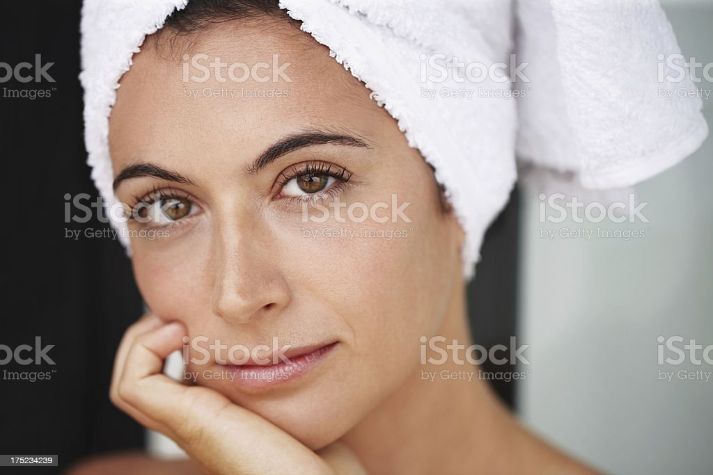 Looking good after a hot bath royalty-free stock photo