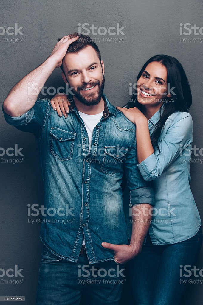 Looking great and feeling happy. stock photo