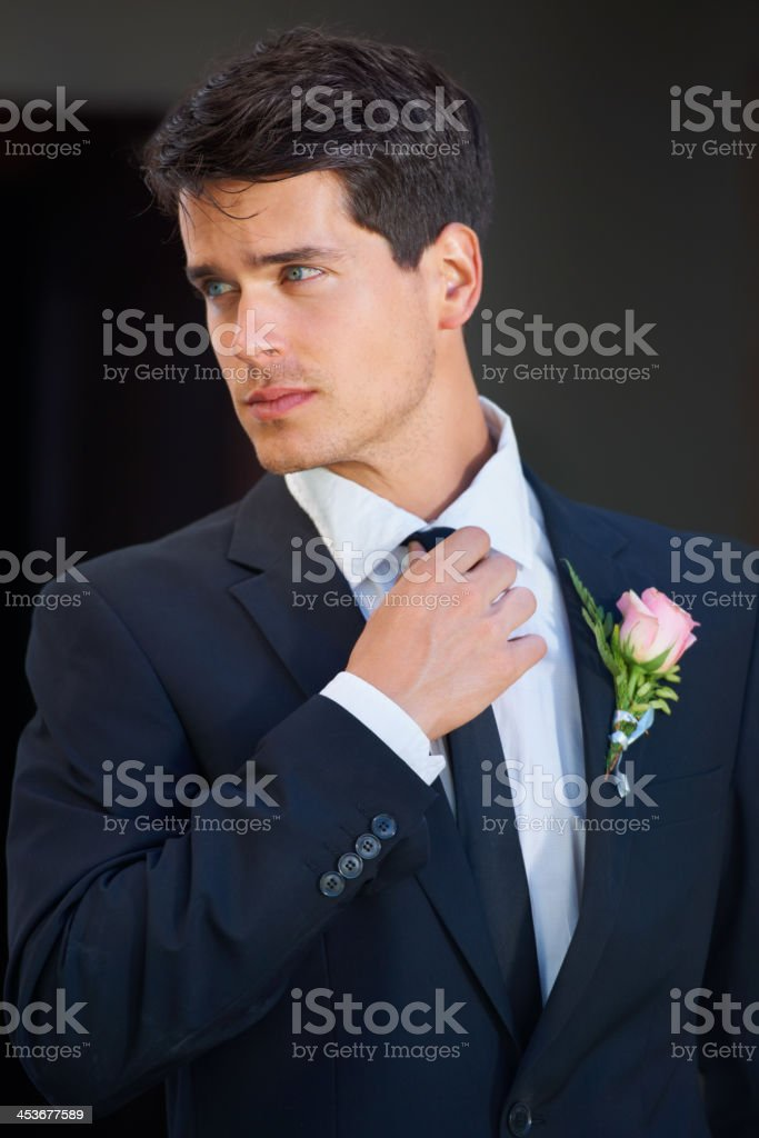Looking great on his big day stock photo