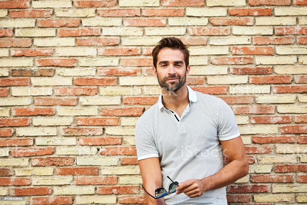 Looking handsome and cool in the city stock photo