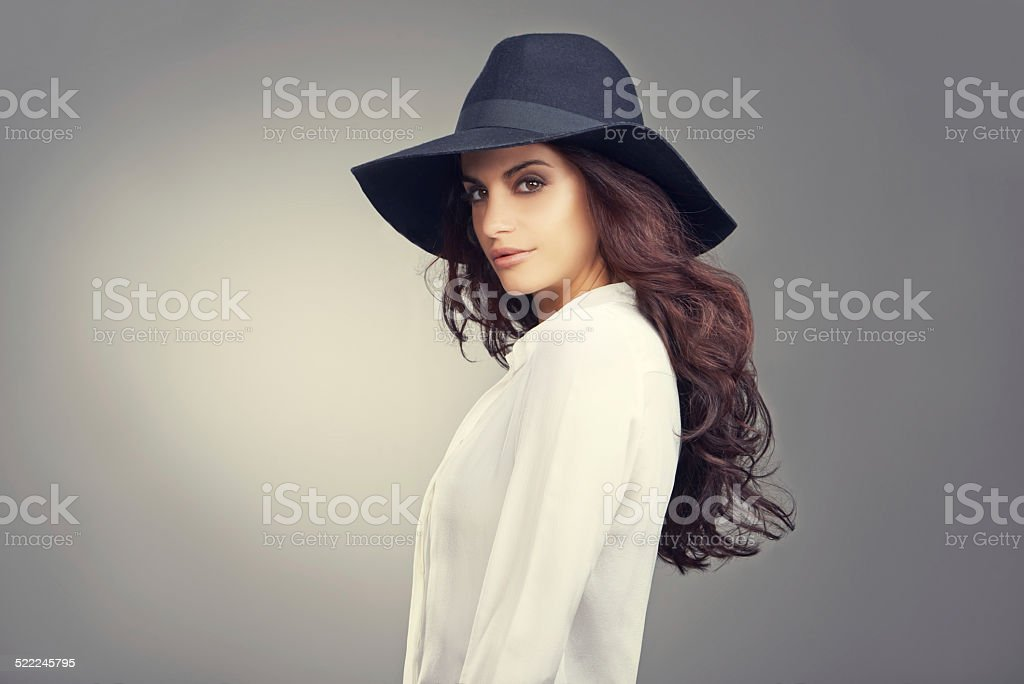 Looking hot this winter stock photo