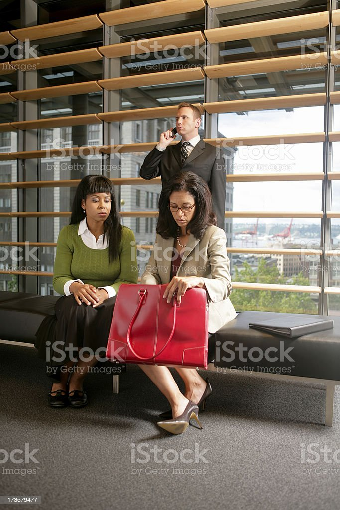 Looking in Briefcase royalty-free stock photo