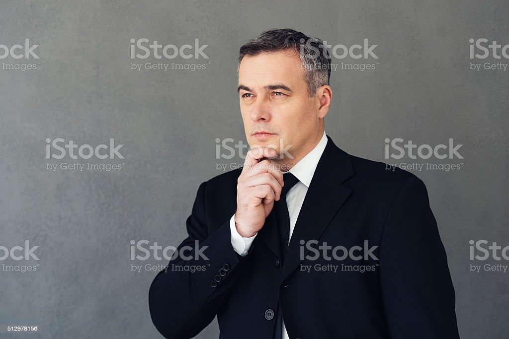 Looking in future. stock photo