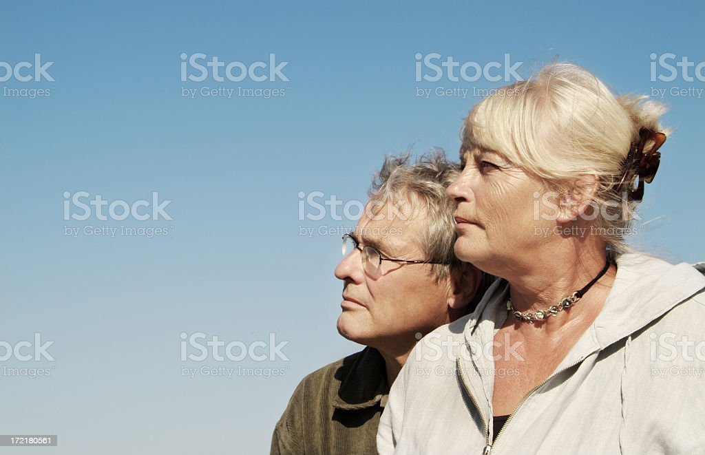 Looking in the Future/past royalty-free stock photo