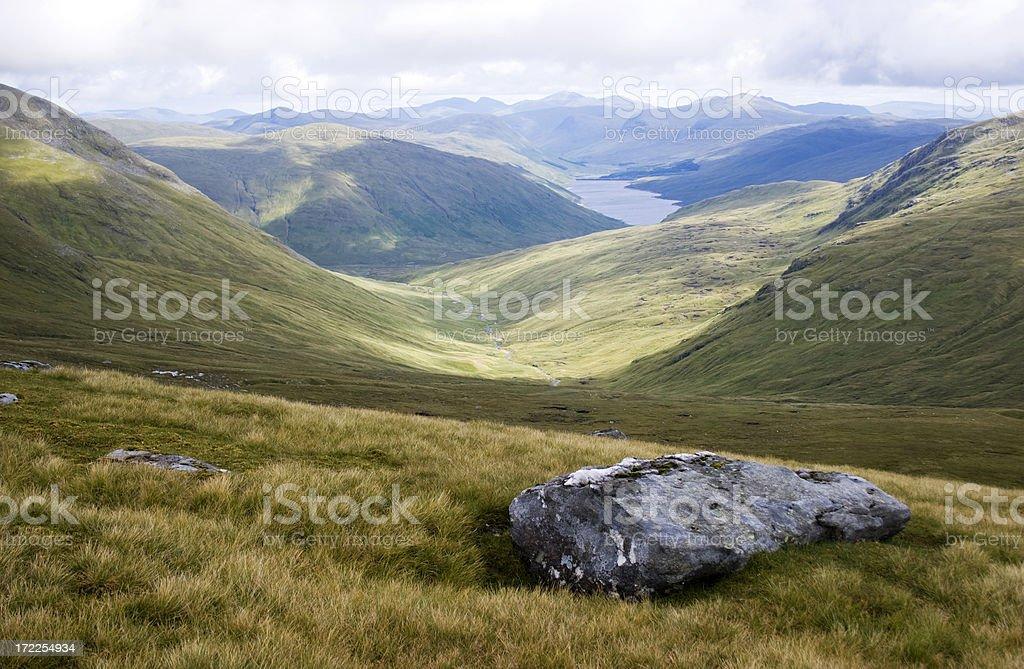 Looking Into Glen Lyon royalty-free stock photo