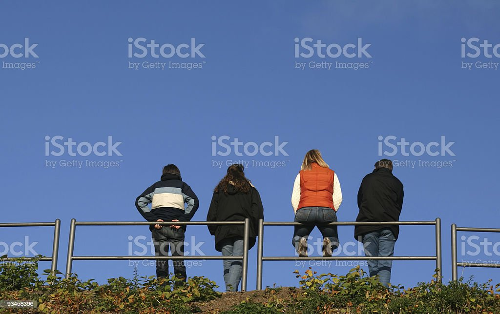 looking into the blue sky royalty-free stock photo