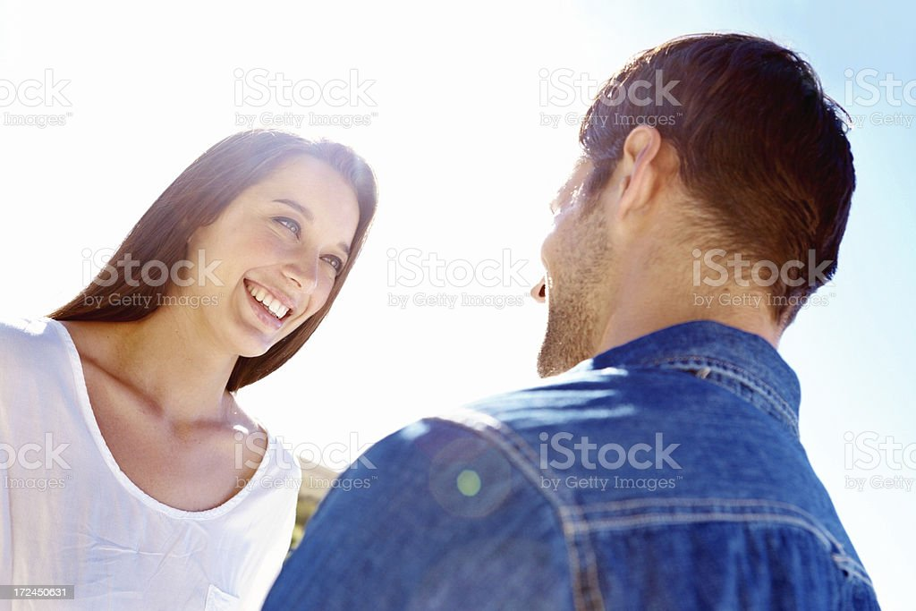 Looking into the eyes of my darling royalty-free stock photo