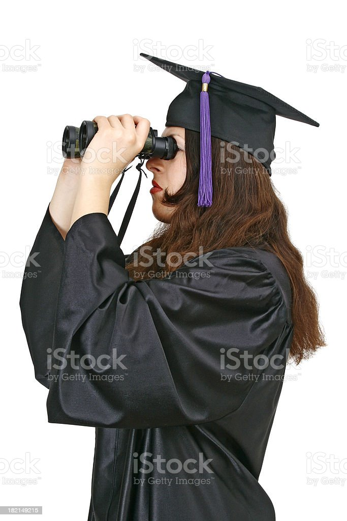 Looking into the future royalty-free stock photo