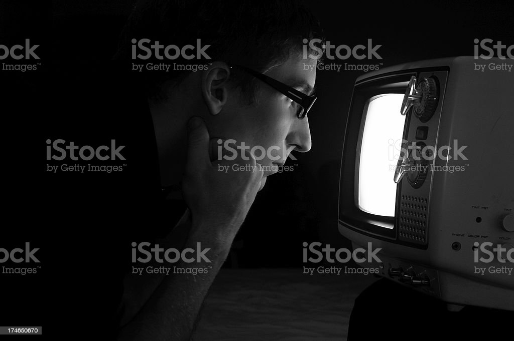 Looking into the past royalty-free stock photo