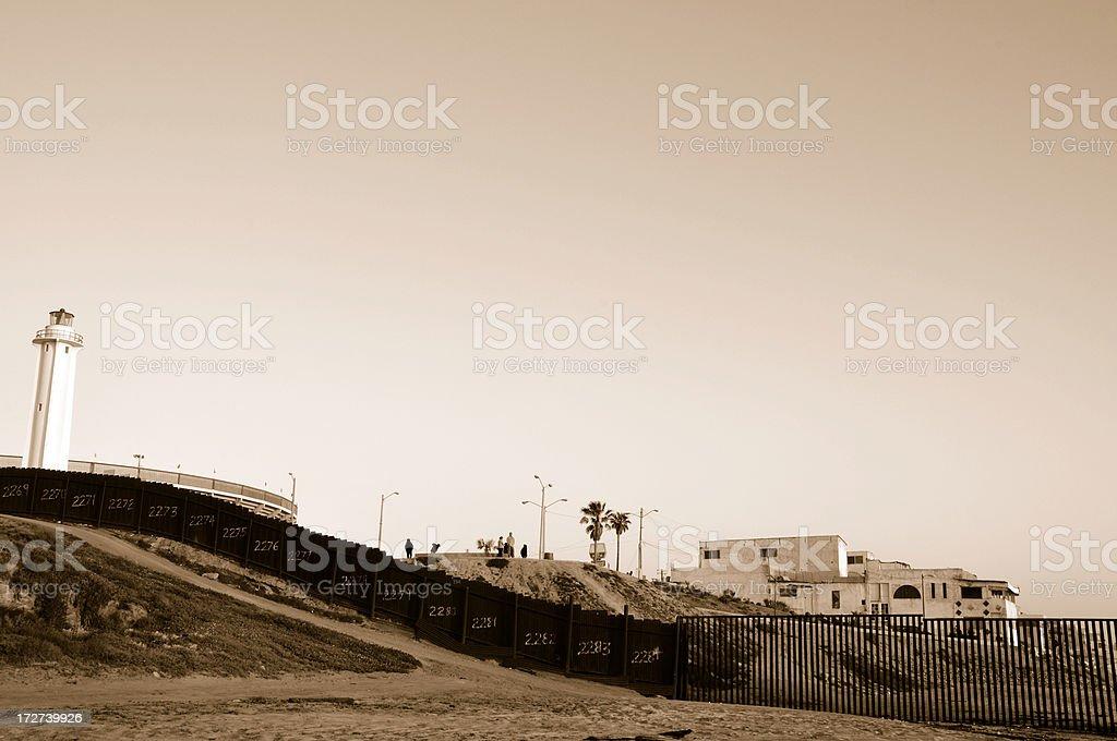 Looking into Tijuana royalty-free stock photo