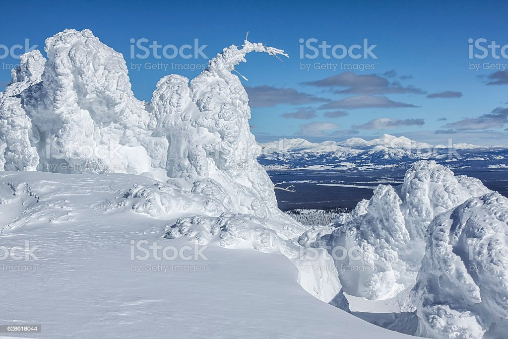 Looking into Yellowstone National Park from Two Top Mountain, We stock photo