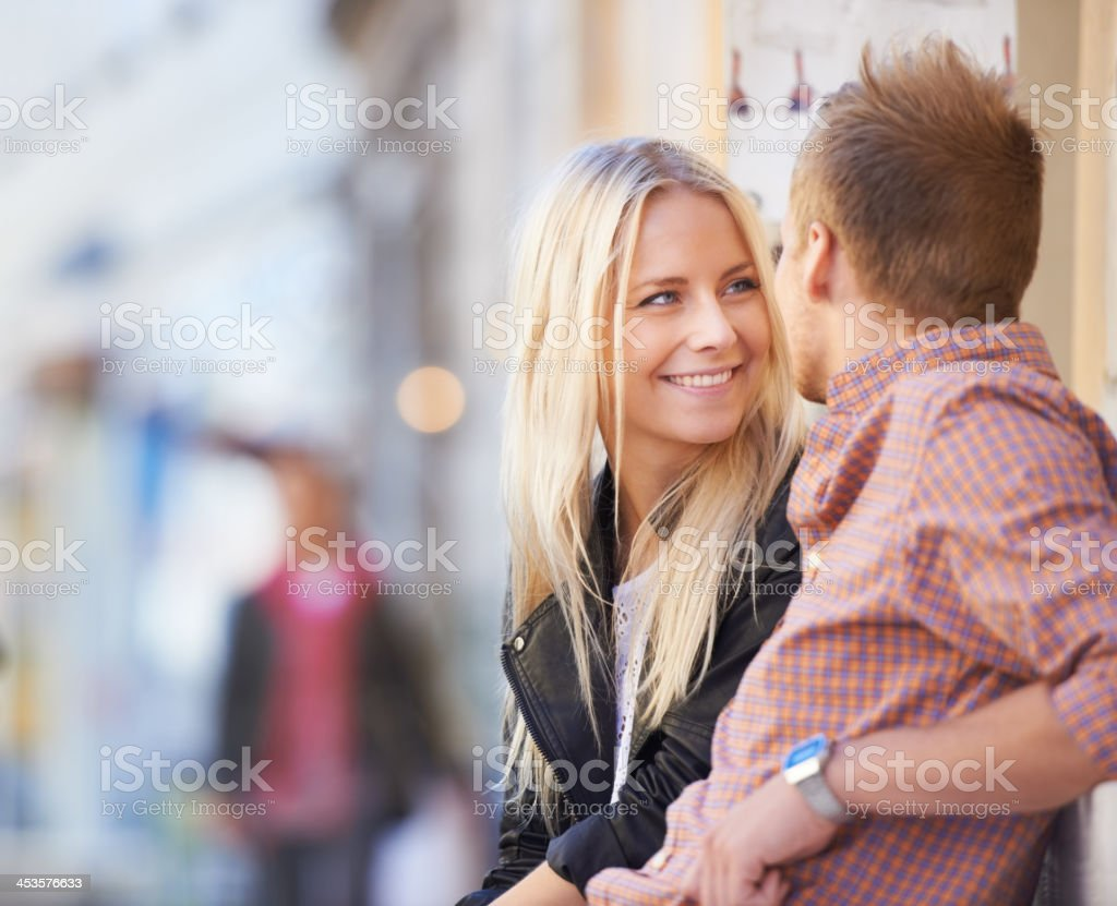 Looking into your eyes makes the bustling city go quiet... royalty-free stock photo