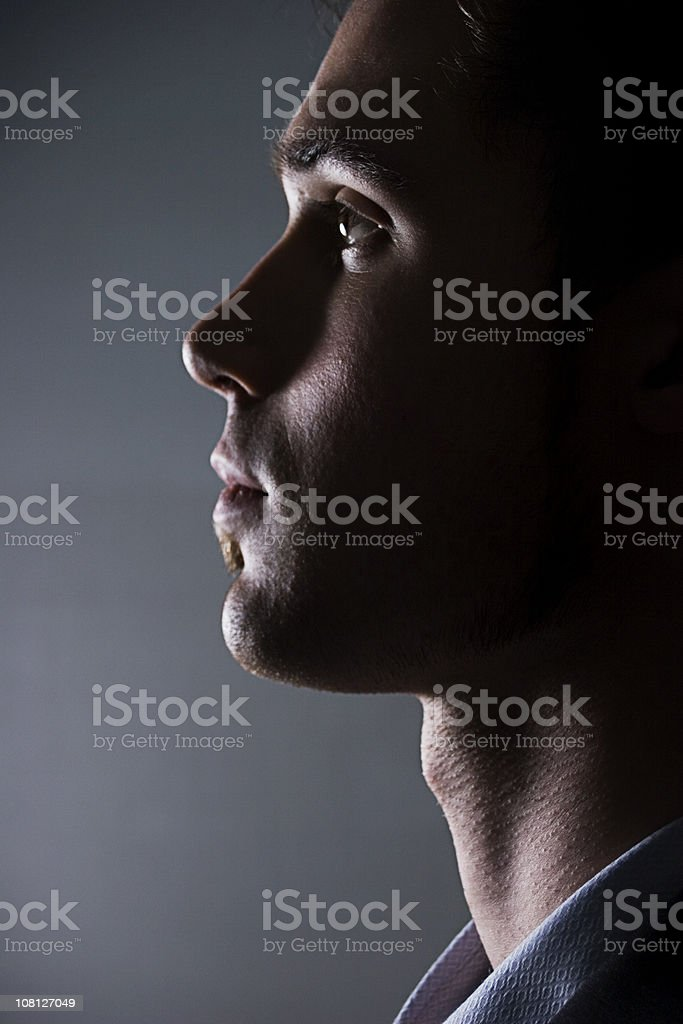 Looking Left royalty-free stock photo