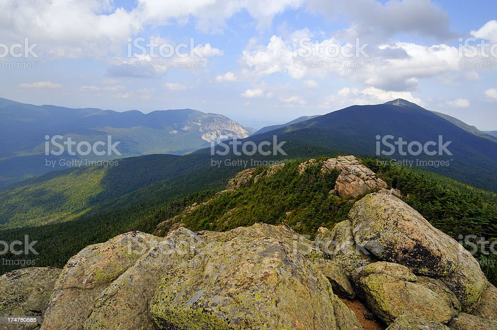Looking North on Franconia Ridge from Mt. Liberty stock photo