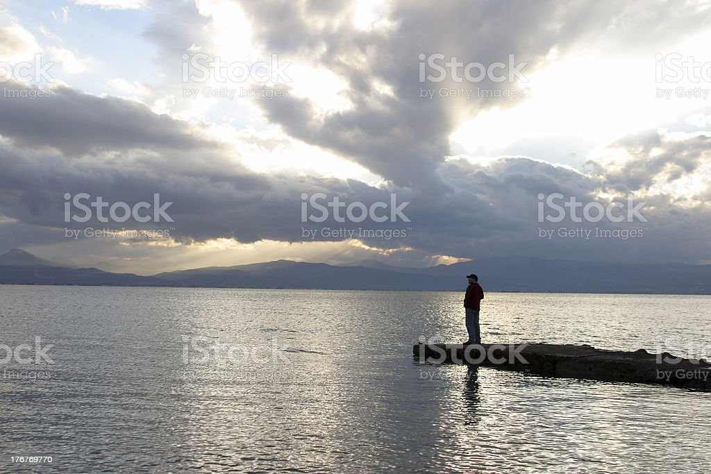 looking out  at sea royalty-free stock photo