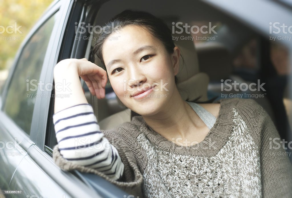 Looking out from the car royalty-free stock photo