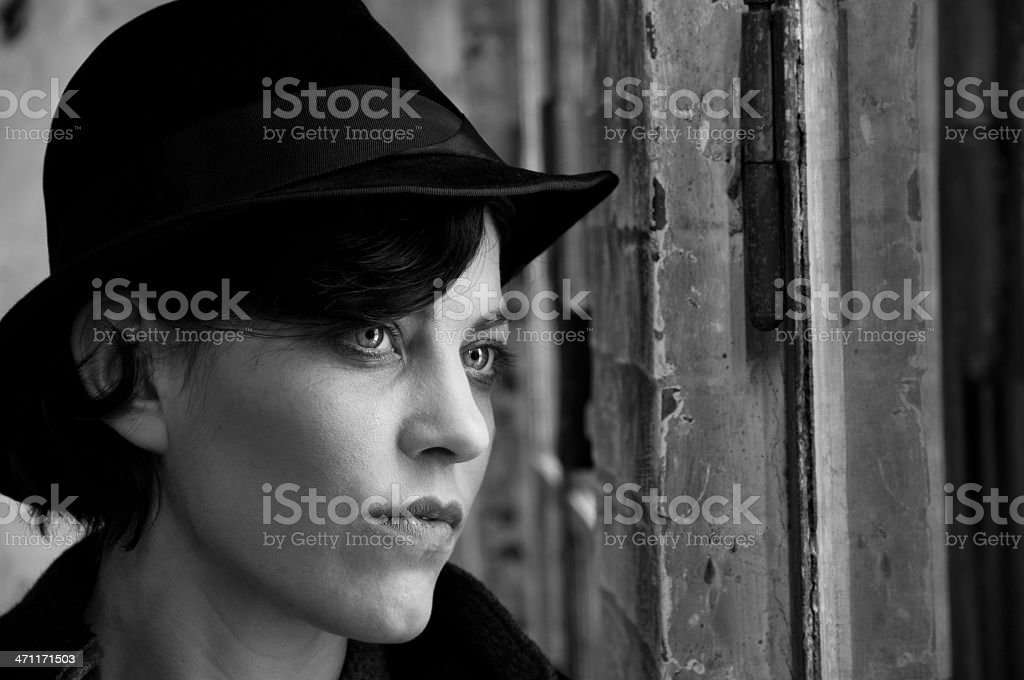 looking out of window royalty-free stock photo