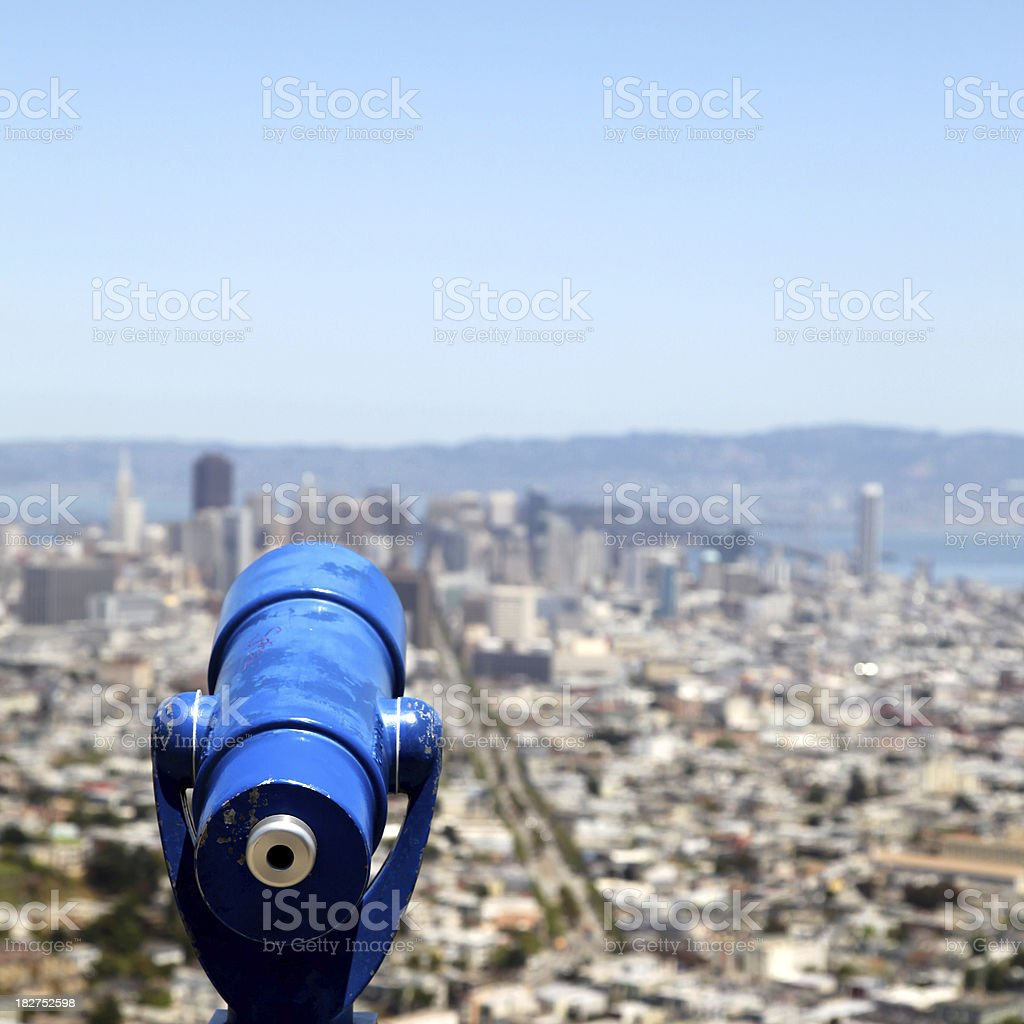 Looking out over the city royalty-free stock photo