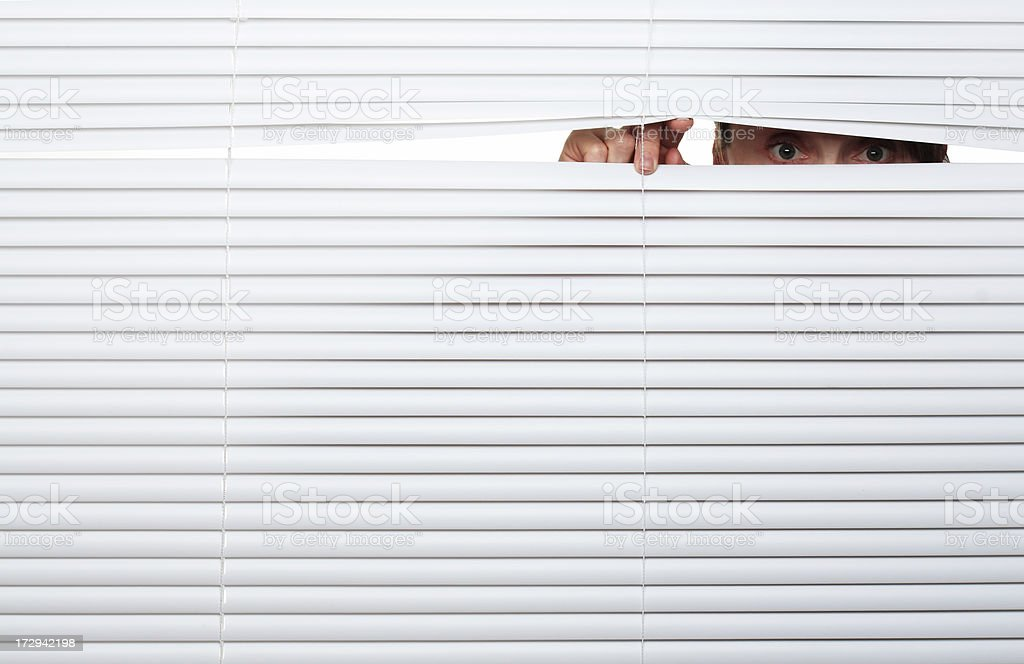 Looking Out royalty-free stock photo