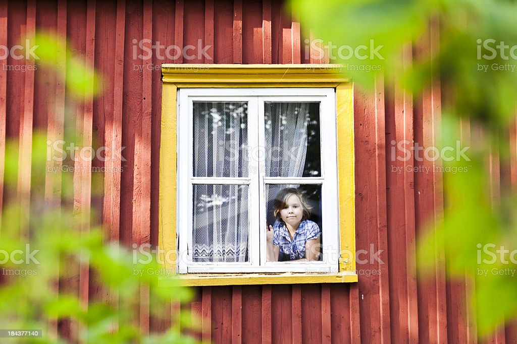 Looking out. royalty-free stock photo