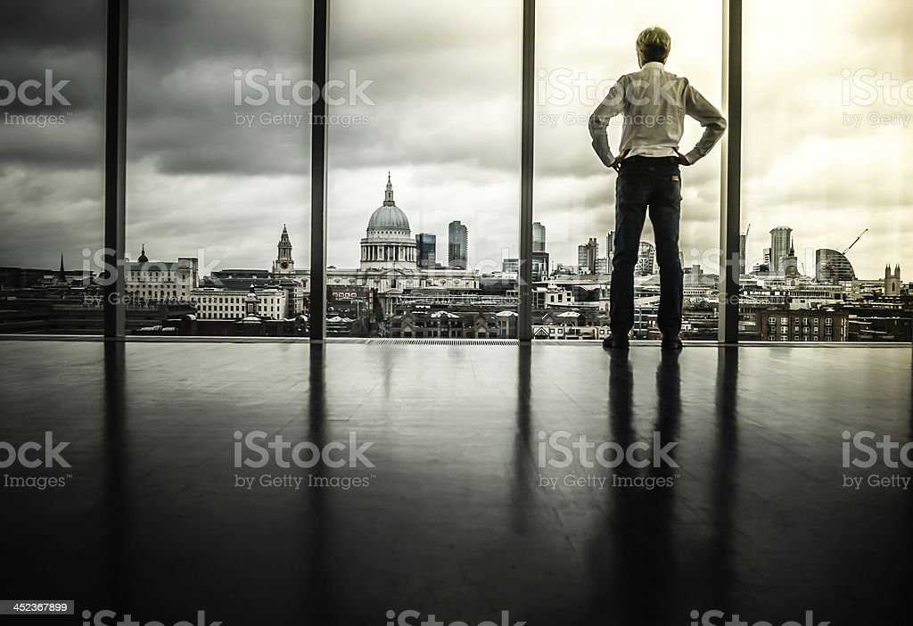 Looking Out stock photo