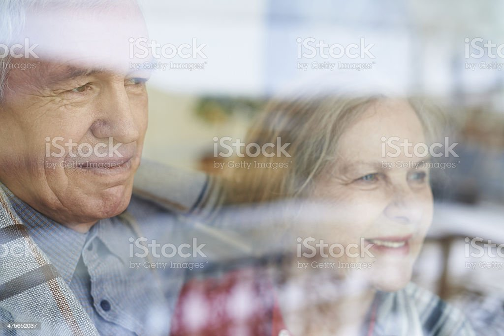 Looking out the window royalty-free stock photo
