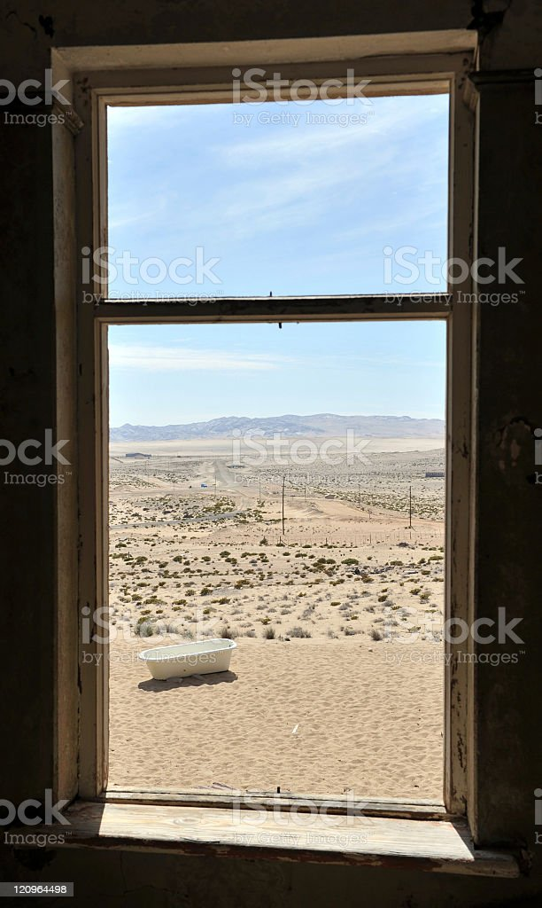 Looking outside royalty-free stock photo