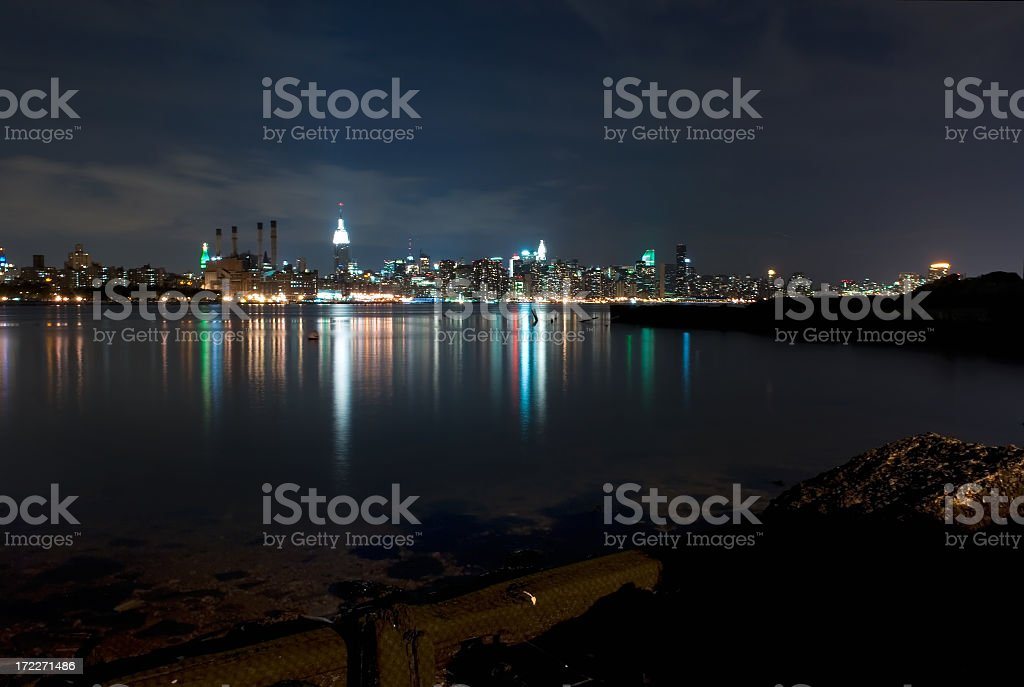 Looking over East River royalty-free stock photo