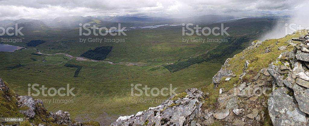Looking Over Rannoch Moor royalty-free stock photo