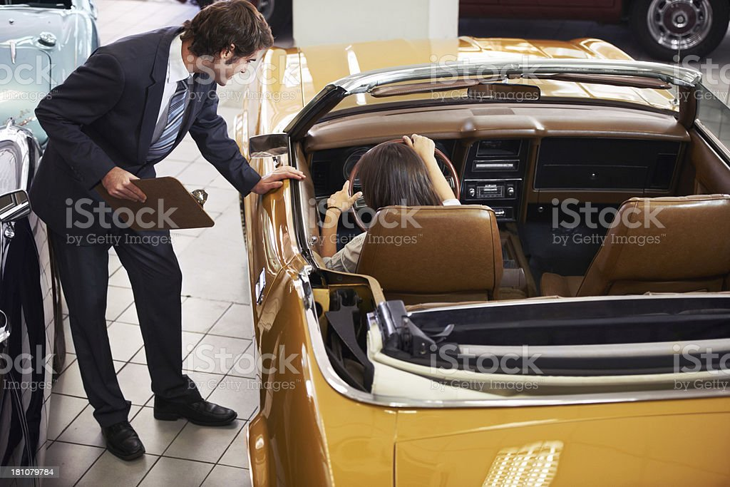 Looking over the interior carefully... royalty-free stock photo