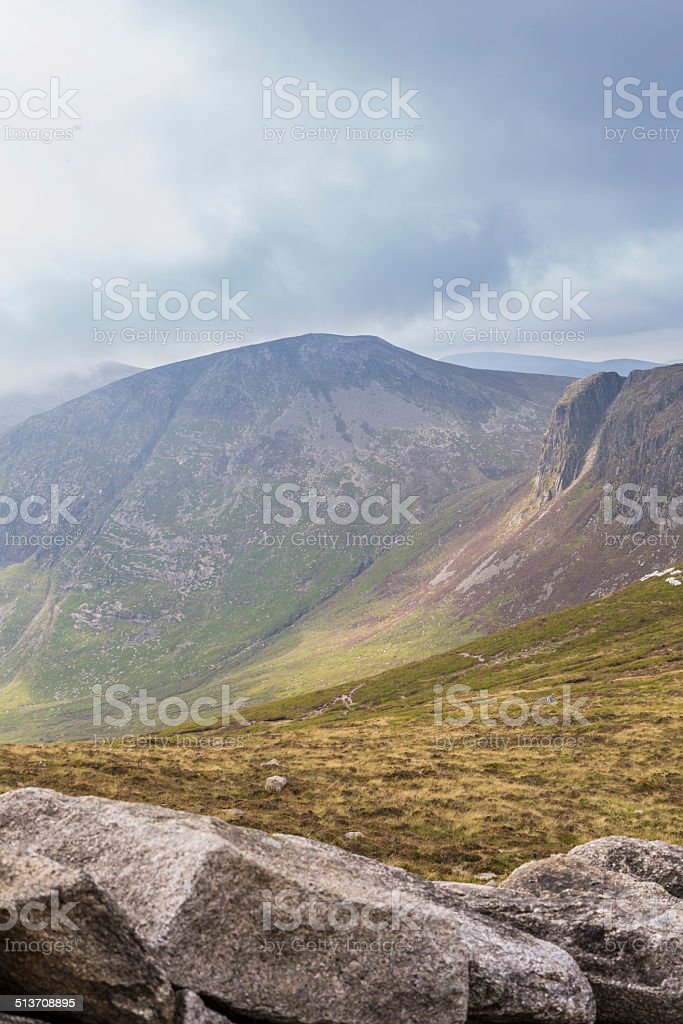 Looking over the Mourne Wall, County Down stock photo