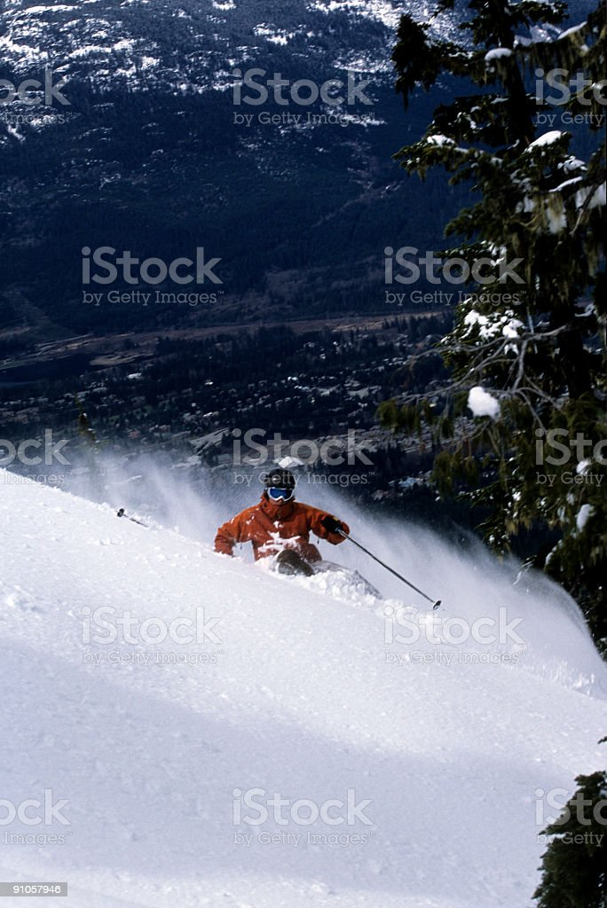 Looking over Whistler stock photo