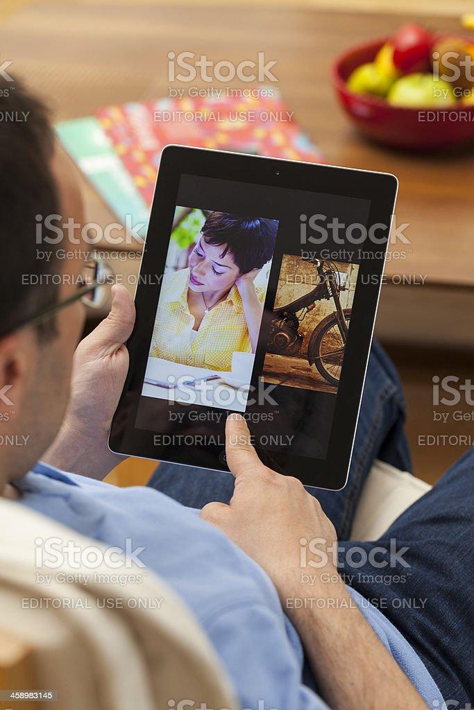 Looking photos royalty-free stock photo