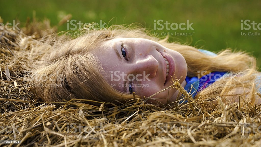 Looking royalty-free stock photo