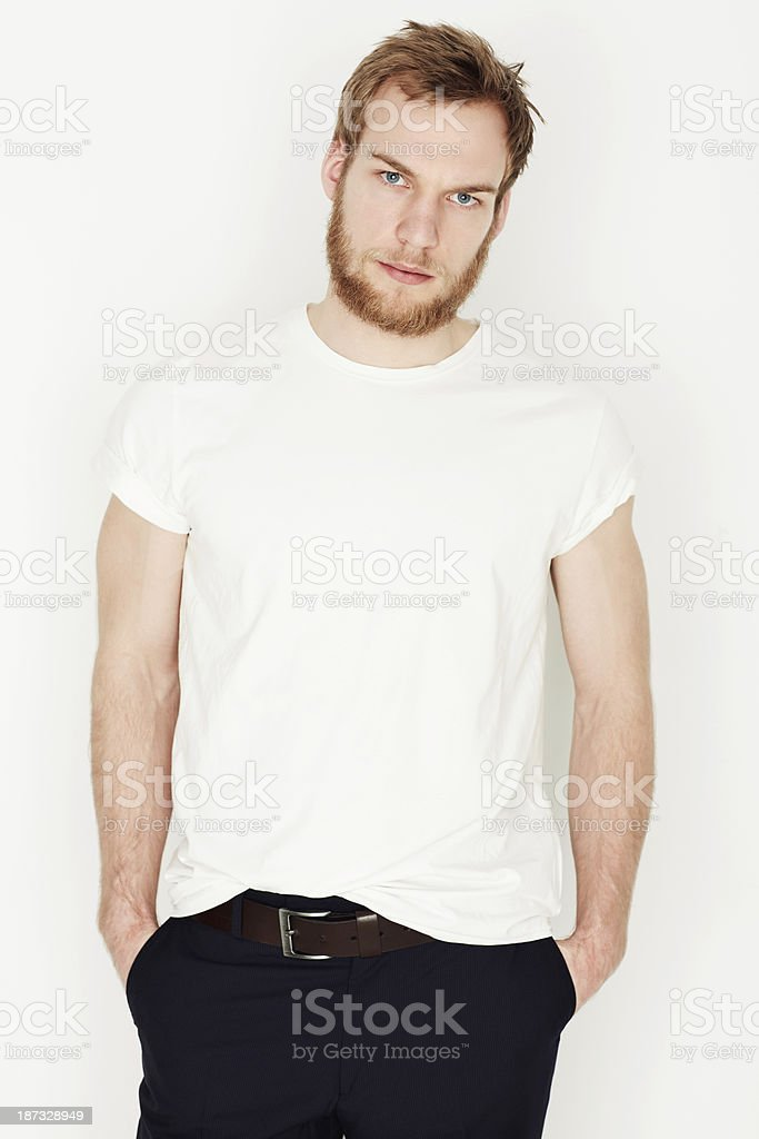 Looking serious royalty-free stock photo