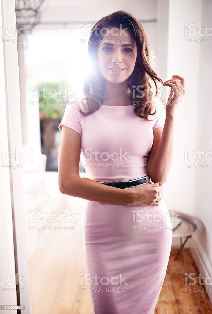 Looking sexy and feeling flirty stock photo