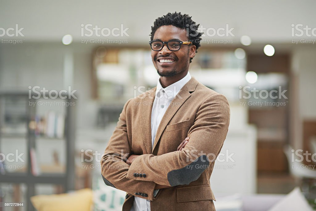 Looking sharp and feeling great stock photo