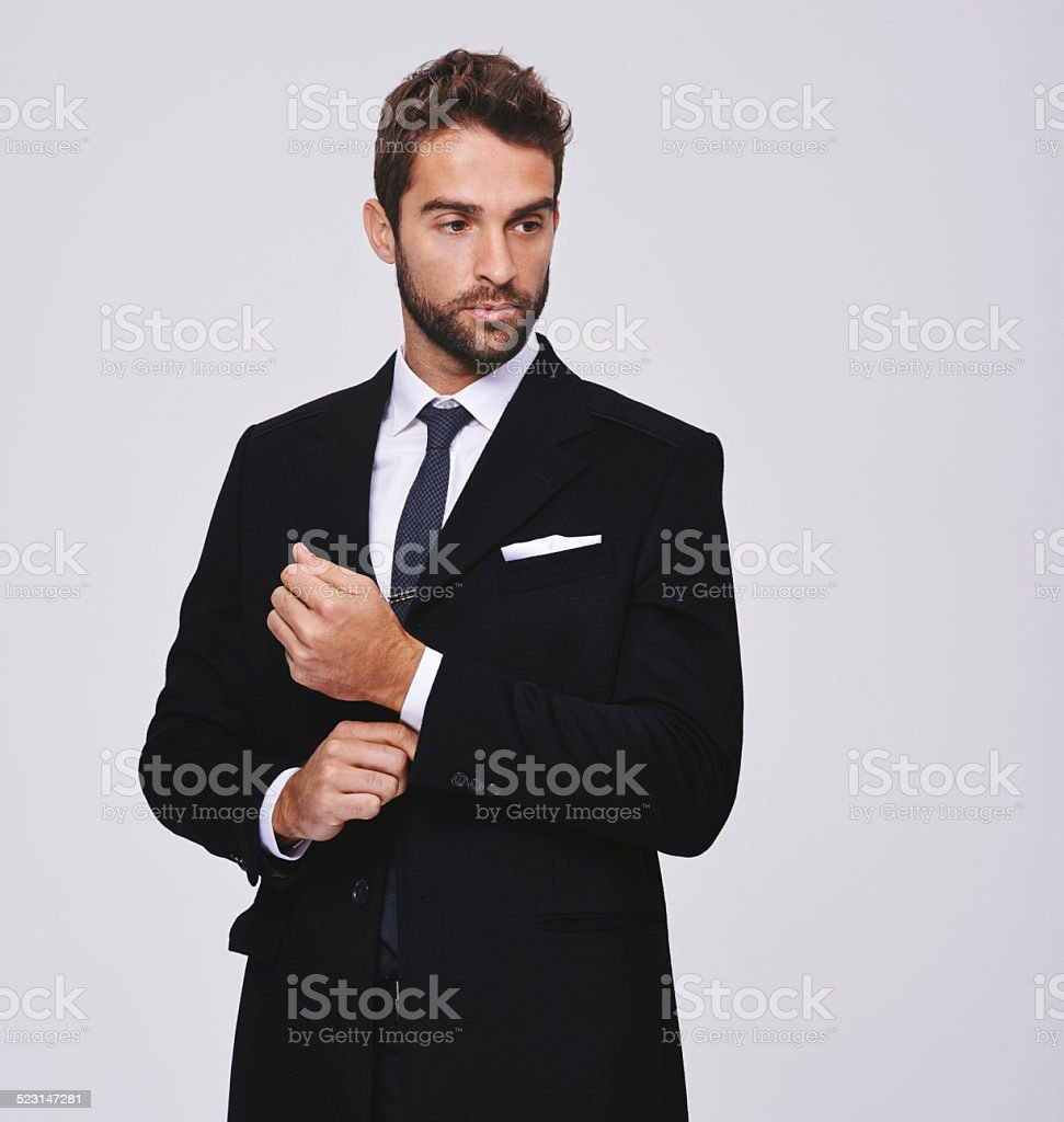 Looking slick stock photo