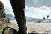 Looking through a Car Windscreen to a New Zealand View