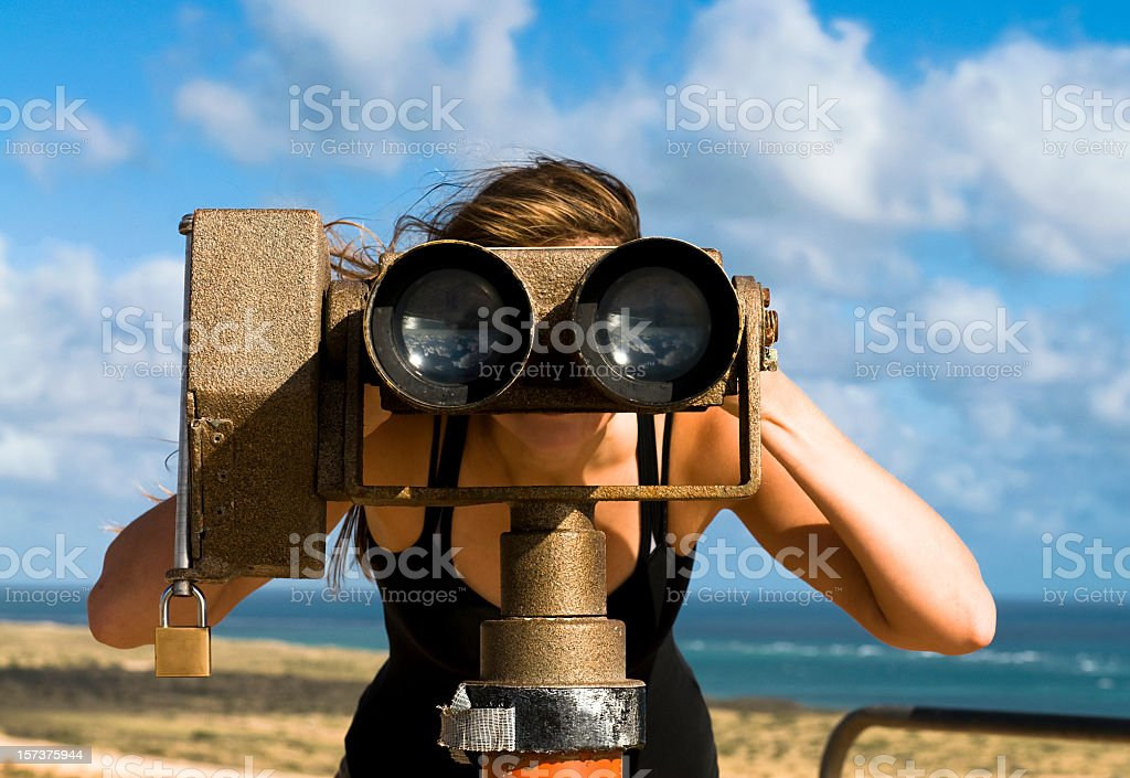 Looking Through A Telescope royalty-free stock photo