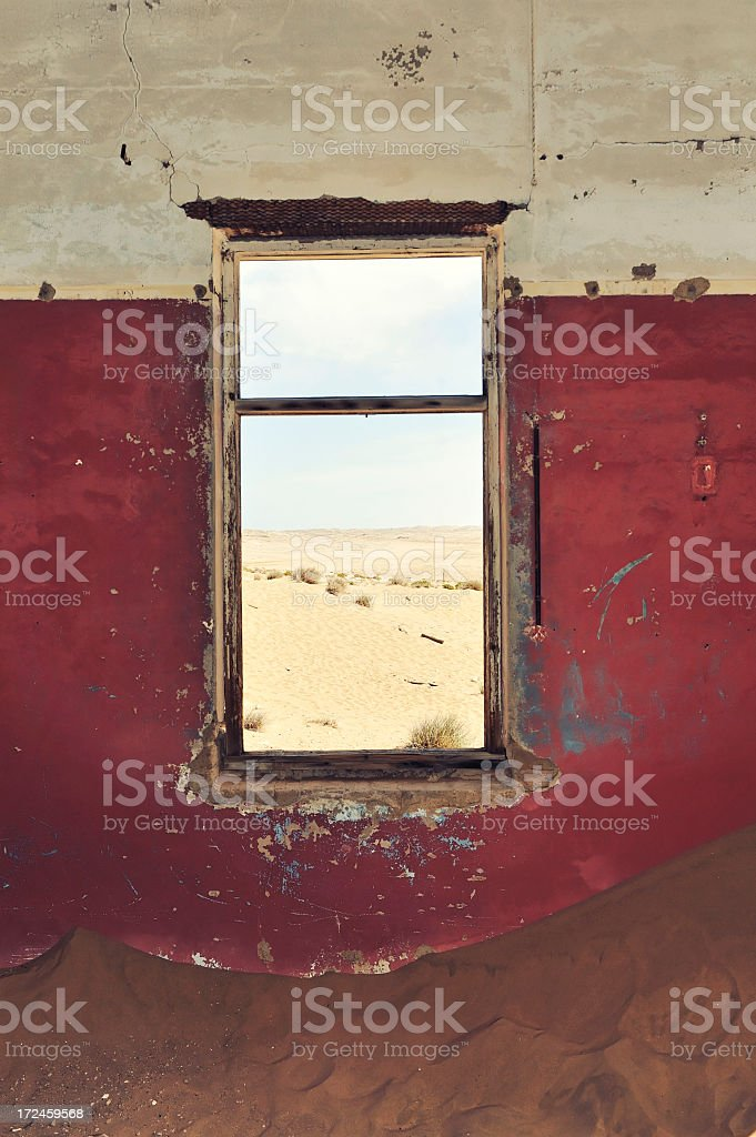 Looking through a window stock photo