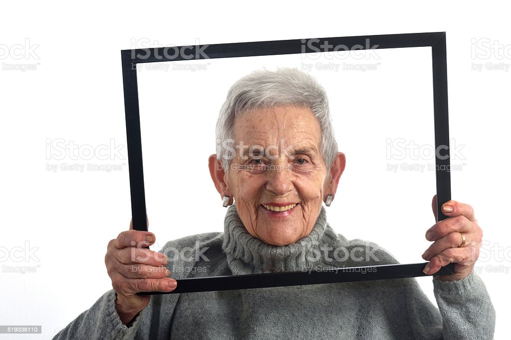 looking through an empty frame stock photo